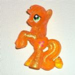 Apple Jack  Rainbow glitter set- My Little Pony  Friendship is Magic